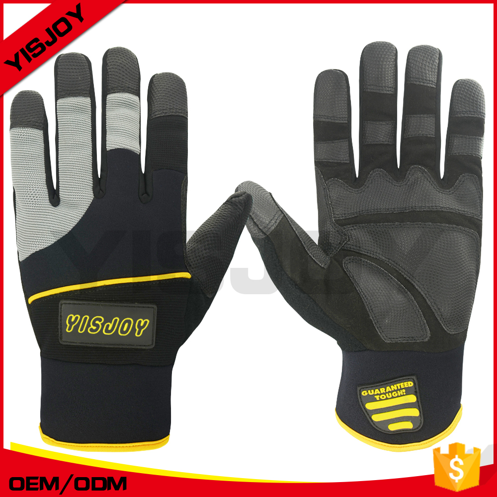 professional custom safe working leather gloves/impact working gloves