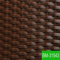 Brown UV-resistant Garden Furniture Manmade Wicker for Outdoor Using BM-31543