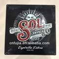 customized tin plaque, metal embossed tin board