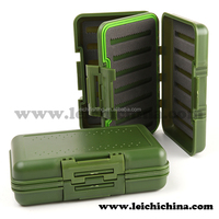 Fly fishing large clear plastic fishing tackle box