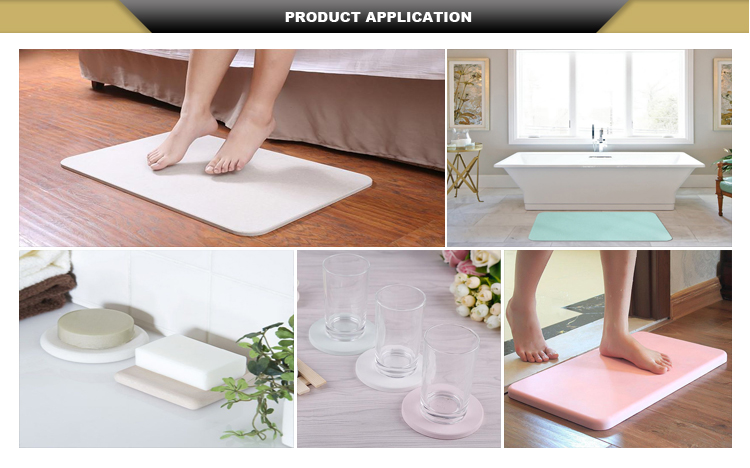 Spa Accessories Matspa Bath Good Water Absorption Diatomite Shower Mat