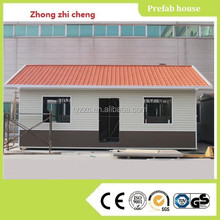 Tiny prefab house with sandwich panel for shop and guard