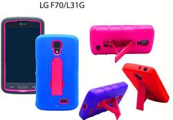 New product cell phone protective case for LG F70 hybrid case pc+silicone