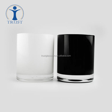 Factory High Quality Wholesale Hand Made Creative Wedding/party decorative white black Candle glassware