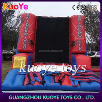 inflatable Spider Web wall,inflatable sticky wall,inflatable spider climb wall