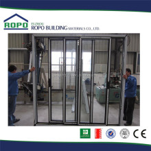 Good peputation factory price UPVC six panels bathroom slide fold shutter door