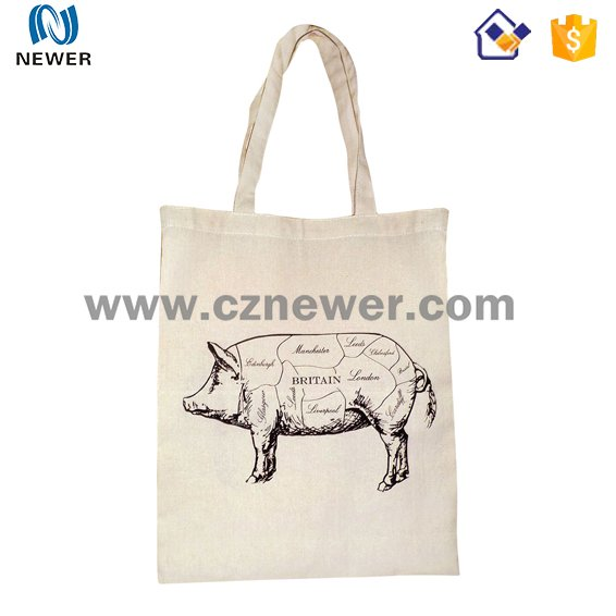 Colorful custom logo printed cheapest natural cotton tote bag