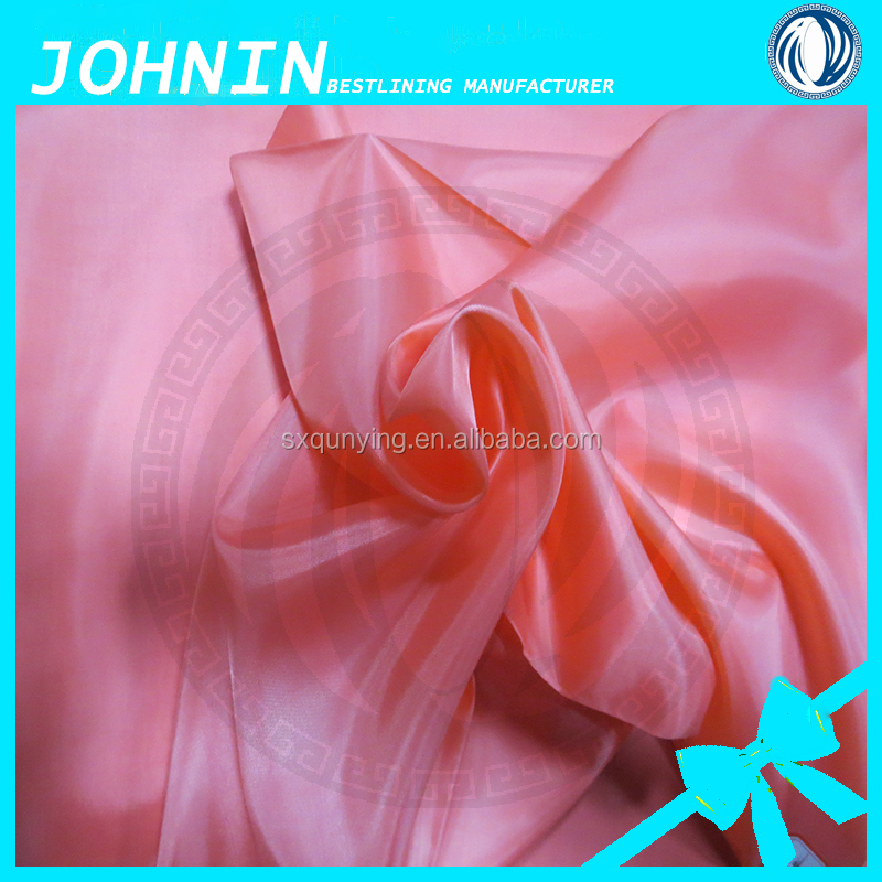 wholesale cheap ladies fashion clothing fabric 190t polyester taffeta lining fabric china supplier