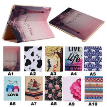 Cartoon leather tablet case for ipad air 2, flip leather case for apple ipad air 2