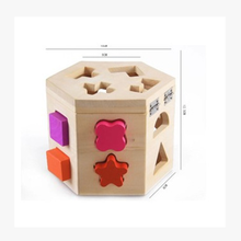 Safety Environmental Geometric Shape Wooden shaped Toy Box for Kids