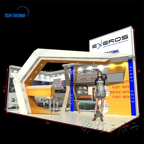 Portable customized advertising display stand for trade show
