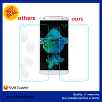 OEM manufacturer top quality high transparency 0.15mm mobile phone tempered glass screen protector for htc one x