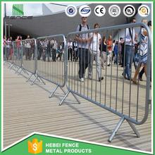 Galvanized stainless steel construction barricades used crowd control barriers