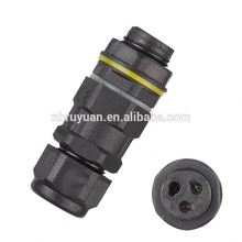 IP68 SP13 waterproof 9 pin circular threaded connector for data and power