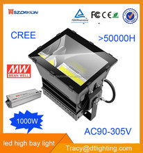 China manufacture AC90-300V waterproof ip66 hight bay LED light 1000w 5 years warranty