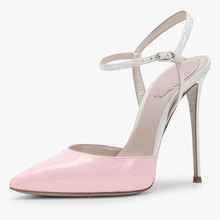 ankle strap slingback pink wedding party dress shoe girls high heel sandals shoes