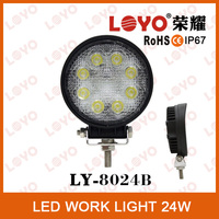 24W led tractor working lights,led mining lamp, 12V/24V DC waterproof LED offroad lights