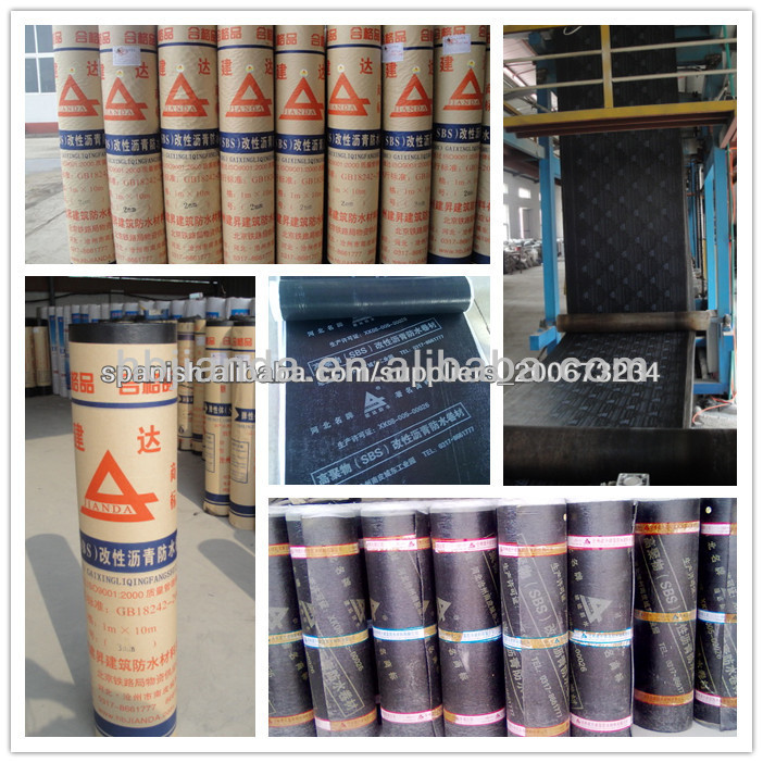 Polymer modified bitumen membrane SBS roofing felt Torch on