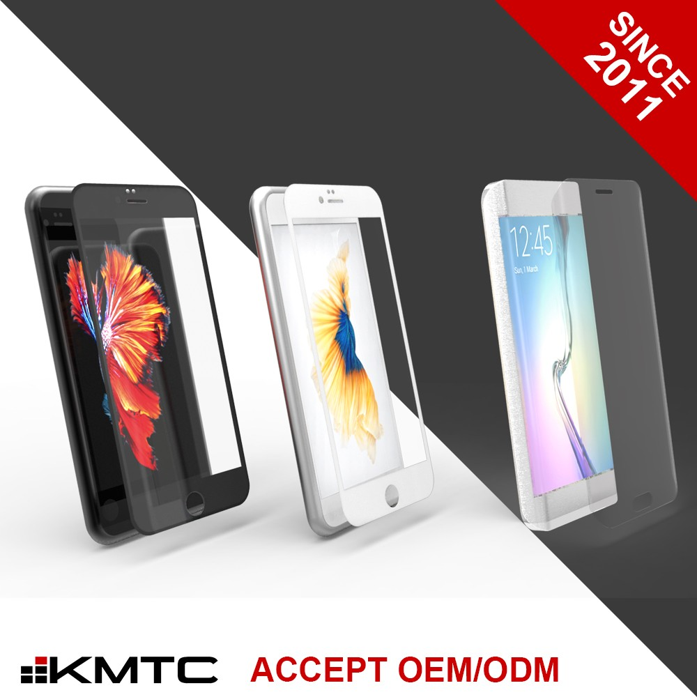 KMTC 3D Round-edge Full Cover Anti-fingerprint Tempered Glass Screen Protector For Iphone 6 For Iphone 6 Plus