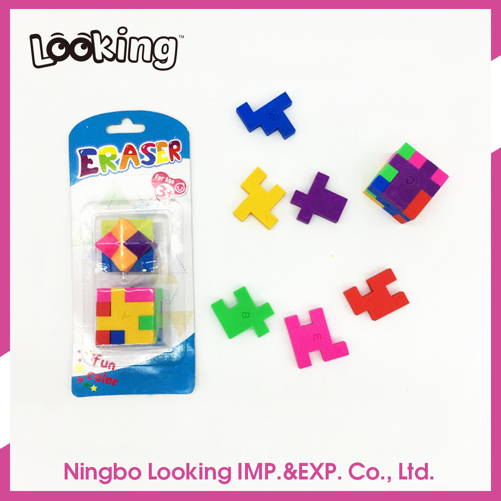 LOOKING Custom Shape Puzzle Shaped Eraser in drum