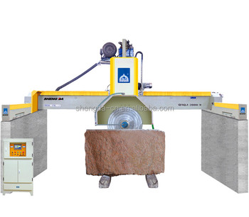 Multiblade block cutter for granite