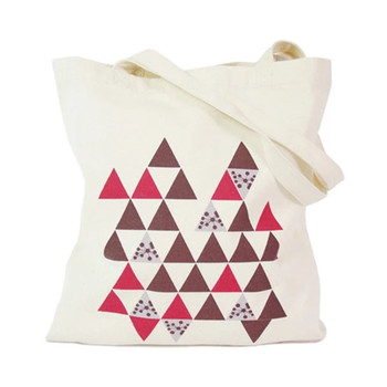 Custom reusable eco friendly promotional natural handled organic cotton bag with zipper