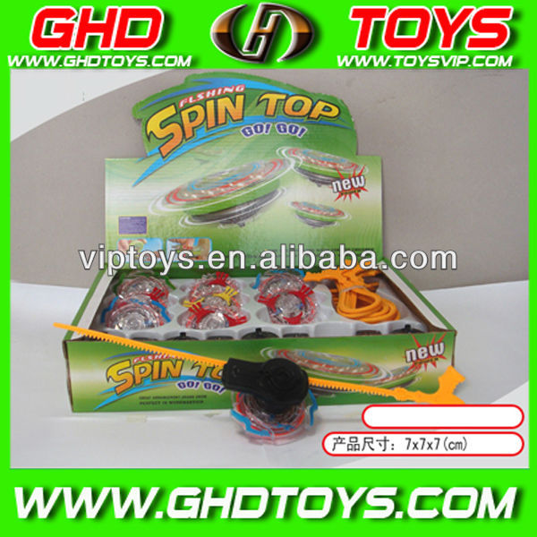 wholesale plastice spinning flash top toys