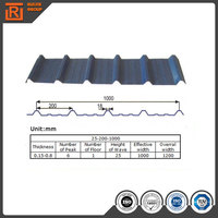 China factory prepainted corrugated galvanized steel roofing sheets 14 gauge corrugated steel roofing sheet