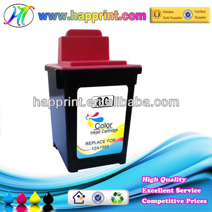 kartrij dakwat ink cartridges for Lexmark 80 12A1980 for use with printer model ColorJetprinterZ11/Z31/3200/5000