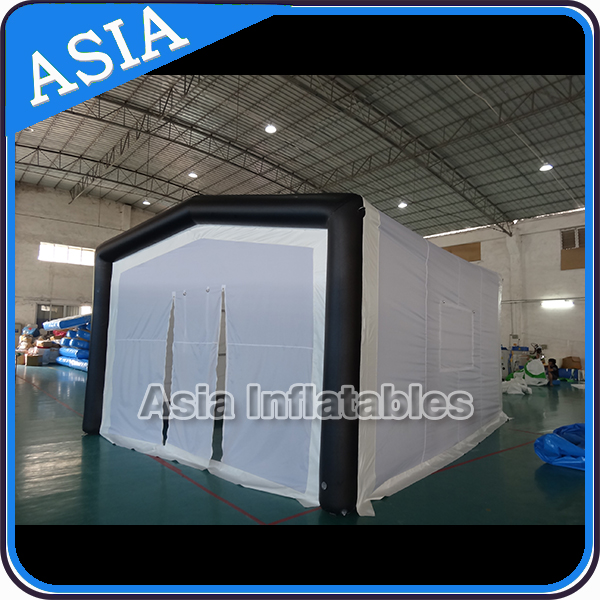 Inflatable Camping Cube Tent / Exhibition Booth Tent For Advertising / Inflatable Stucture Building Tent