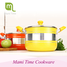 Korean Style Colorful Aluminum Cooking Pot Set for Kitchen