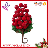 Decorative waterproof red color Christmas use artificial berry pick