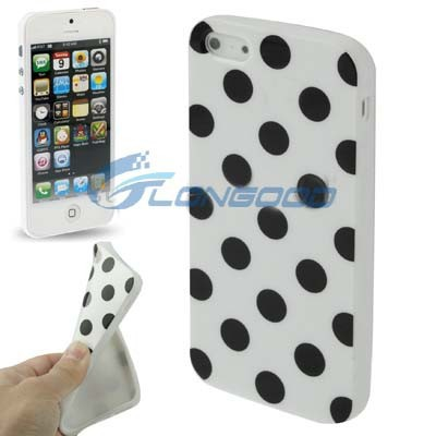 2015 Popular Polka Dot Soft TPU Phone Case For iPhone5(IP5G-011)