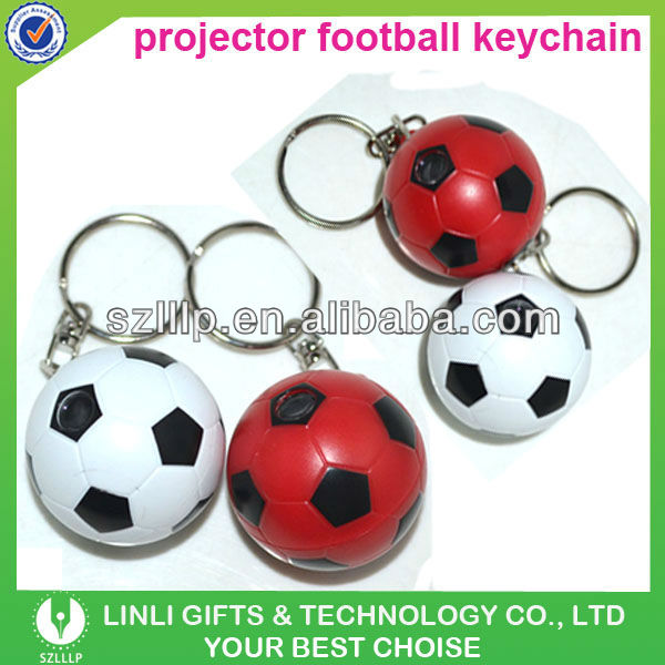 Projector Football Key Holder Promotion Gifts for Promotional
