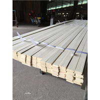 Timber primed wooden interior finger joint moulding/Base Board Raw Wooden Casing Shoe Moulding