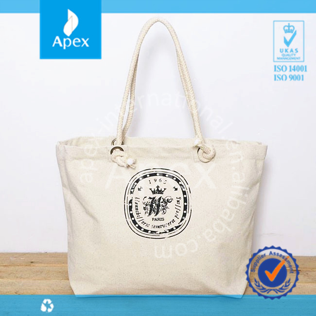 Promotional cotton canvas shipping tote bag