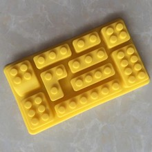 LFGB FDA 10 cavity fancy custom silicone lego ice cube tray