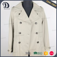 Customized coat cheap women clothes double button