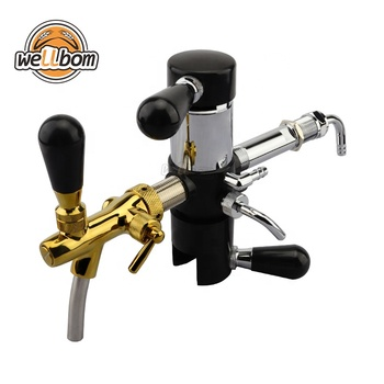 Beer Bottle Filler De-foaming Beer Tap with Chrome plated Adjustable Beer Tap Faucet for Home Brewing Keg Bar Accessories