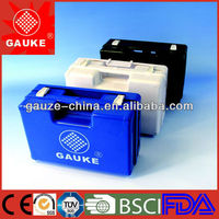 black first aid kits/cases/boxes for emergency made of qualified ABS,heavy and strong,suitable for industry
