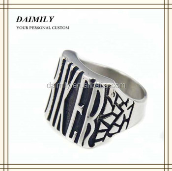 Bulk sale stainless SteeL ring Wholesale jewelry Biker Ring for man DM 019
