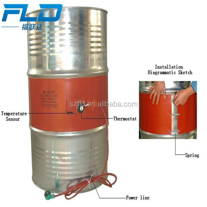 Customize 220v drum heater silicon rubber heater with high watts