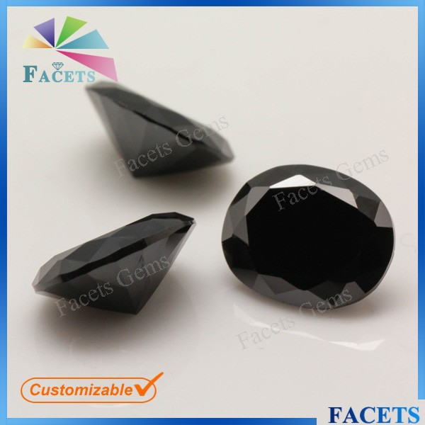Black Diamond Carat Synthetic Cubic Zirconia Black Tourmaline Stone Price Cheap