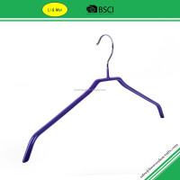 LM1021 Hot Sale Wholesale Cheap Blue Metal Clothes PVC Hanger