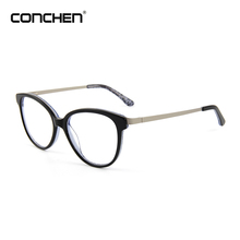 High Fashion Metal Temple Horn Rimmed Clear Lens Eye Glasses 2018