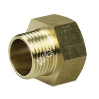 "Brass Pipe Fitting 1/2"" Male X 3/4"" Female NPT Adapter"