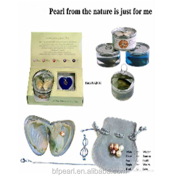 Wholesale Love Pearl Gift Set Can Pearl Love Wish (6-7mm rice freshwater pearl and Sterling Silver chain in the Pack)