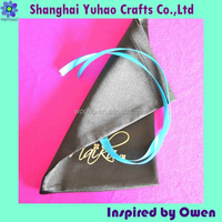 Satin shoe bag shoes pouches with drawstring&logo