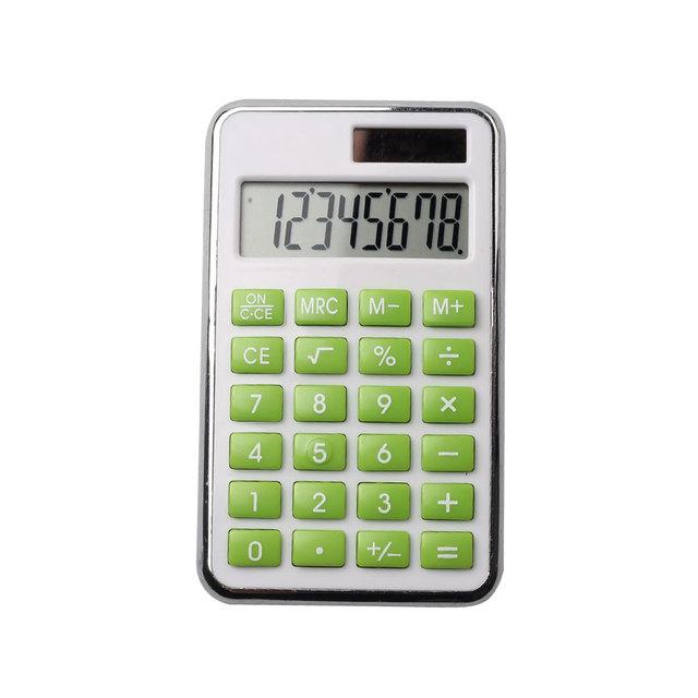 8 Digits Solar Power Pocket Kids Gifts Item Calculator
