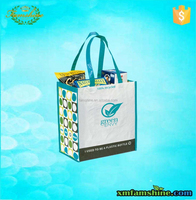 promotion recycled RPET Laminated bag for shopping